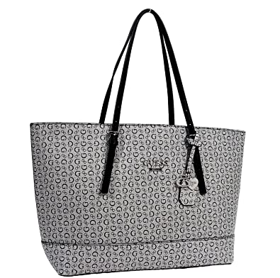 811a90cddd29a Amazon.com  GUESS Women s Decimals Large Shopper Travel Tote Bag ...