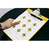 "Saunders 21605 Recycled Plastic Clipboard w/Ruler Edge, 1"" Clip Cap, 8 1/2 x 12 Sheets, Yellow"