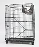 "36"" or 30"" Homey Pet Black Wire Cat, Chinchilla, Ferret Cage w/ Tray and Casters"