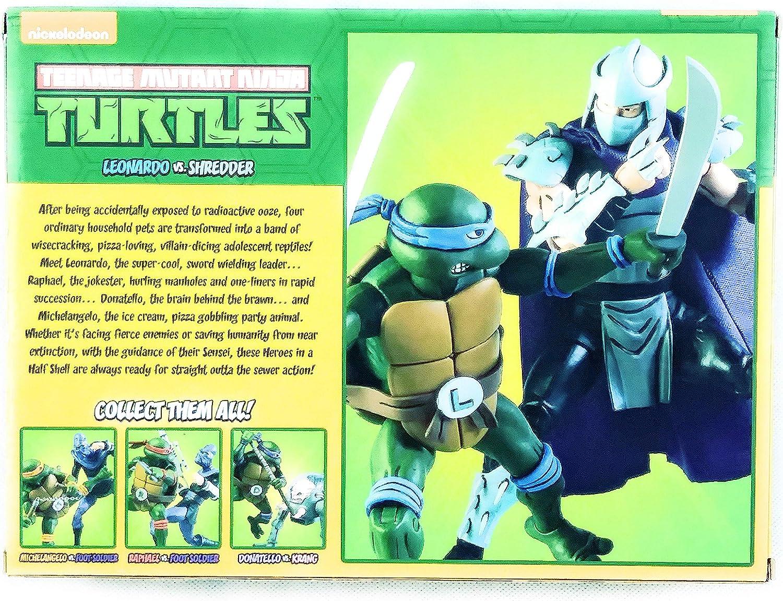 Amazon.com: NECA Mutant Ninja Turtles Leonardo vs Shredder 2 ...