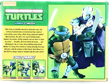 Amazon.com: NECA Mutant Ninja Turtles Leonardo vs Shredder 2 ...