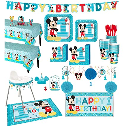 Amazon.com: Party City - Kit de fiesta de Mickey Mouse para ...