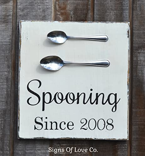 Spooning Since Personalized Wedding Sign Kitchen Dining Room Wall Art Decor Unique Gift