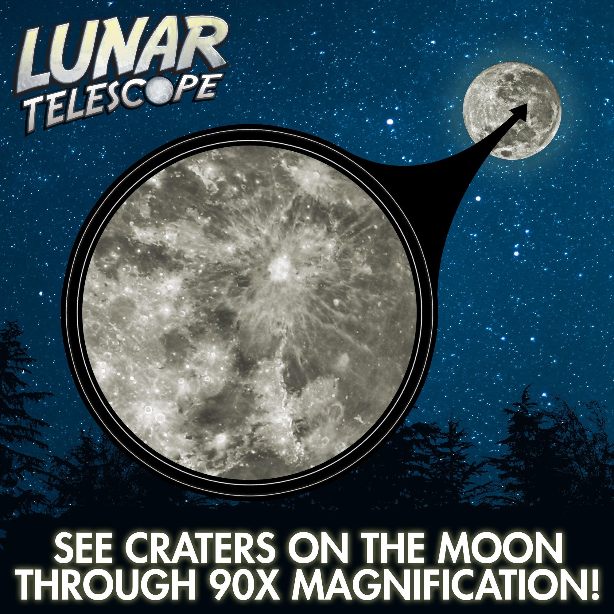 Lunar Telescope for Kids - Explore the Moon and its Craters (2017 Release)