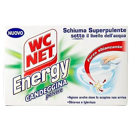 WC Net – Espuma superpulente, Energy, Desincrustante polvo – 3 paquetes de 4 piezas