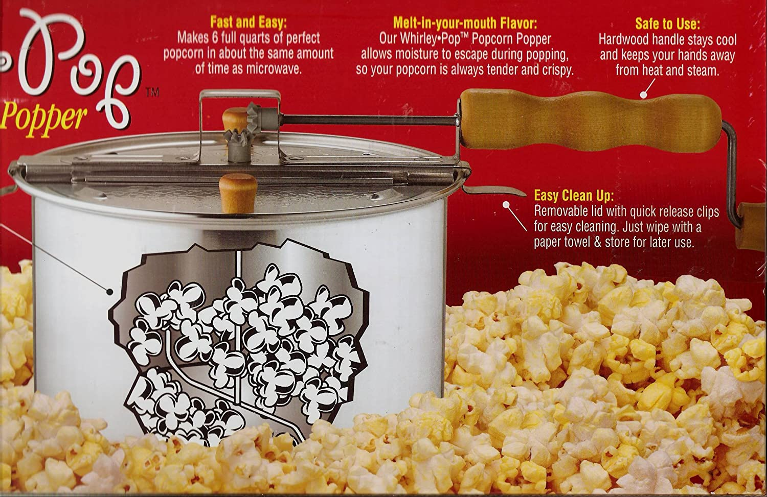 The Original Whirley-Pop 3-Minute Popcorn Popper Wabash Valley Farms