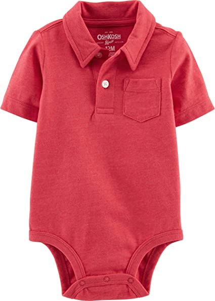 OshKosh BGosh Baby Boys Polo Bodysuit