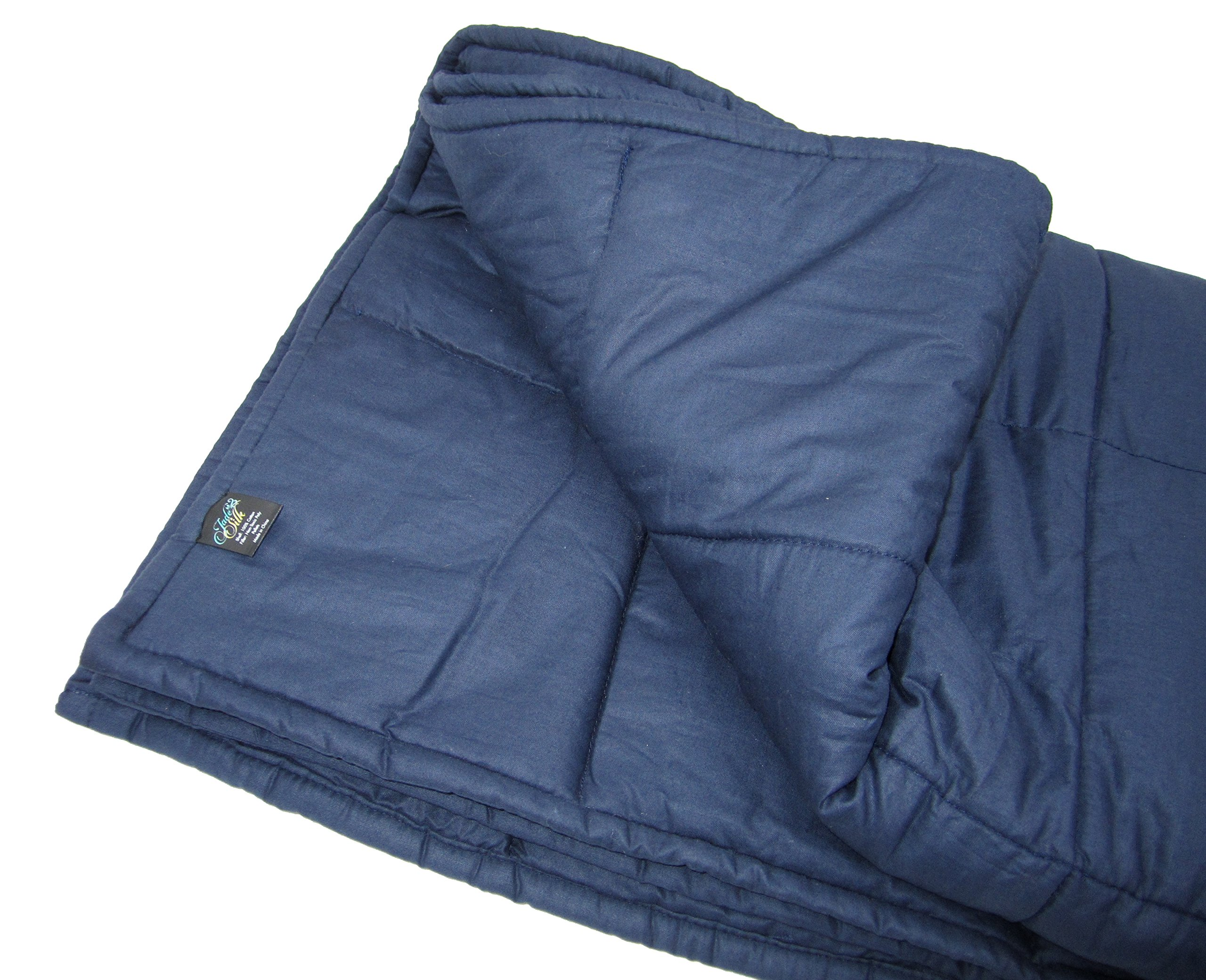Weighted Blanket for Adults, 10lb, Cotton, Stress and Anxiety Relief, Helps Calm AAD, ADHD, Autism By Jade Silk by Jade Silk (Image #3)