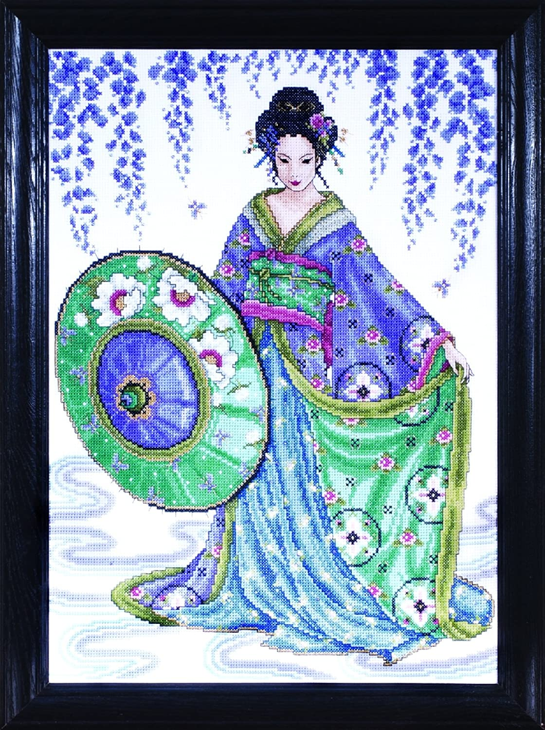 12 by 16 inches Geisha Design Works Crafts Counted Cross Stitch