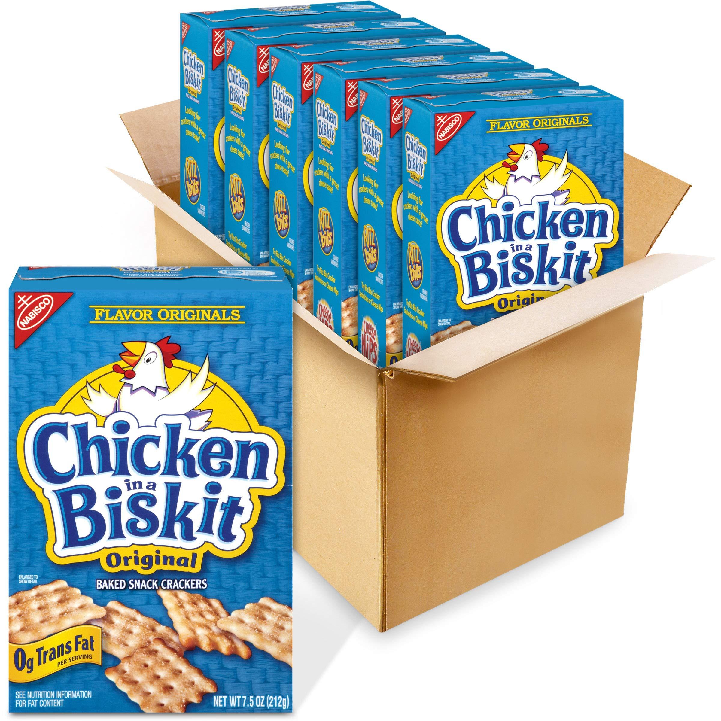 Chicken in a Biskit Original Baked Snack Crackers, 6 - 7.5 oz Boxes