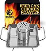 Beer Can Chicken Roaster Stand - Stainless Steel Holder - Barbecue