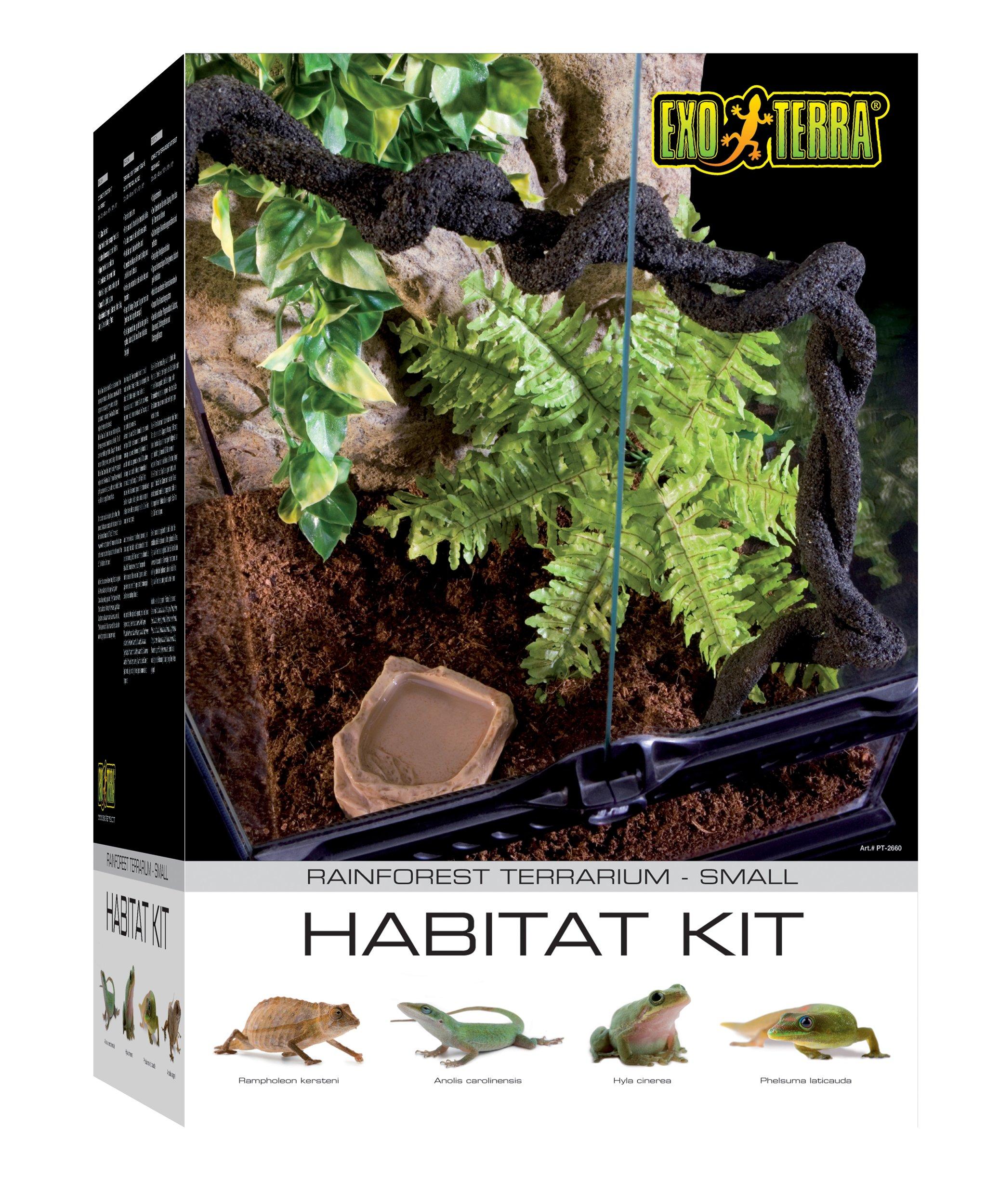 Exo Terra PT2602 Rainforest Habitat Kit, Small