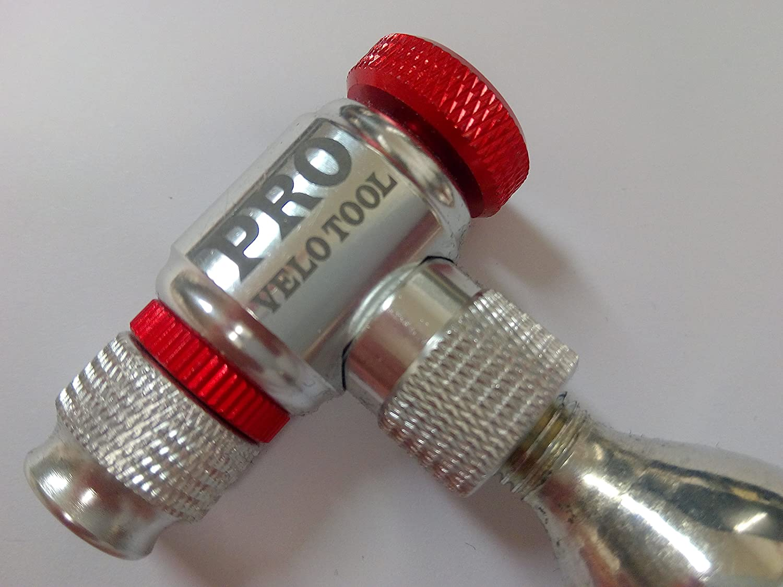 Pro Velo Tools CO2 インフレーター 素早く簡単 - Presta & Schrader バルブ対応 - 自転車タイヤポンプ 道路 通勤 マウンテンバイク用 - CO2カートリッジは含まれていません。   B0777MZ3L1