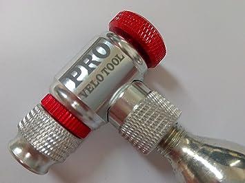 Inflador de CO2 para inflar los neumáticos. Compatible con válvulas Presta y Schrader. Bomba