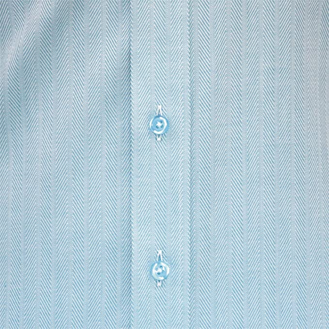 Mens Penny collar Bankers shirt Light Blue stripes Round Club collar Easy 2 Iron