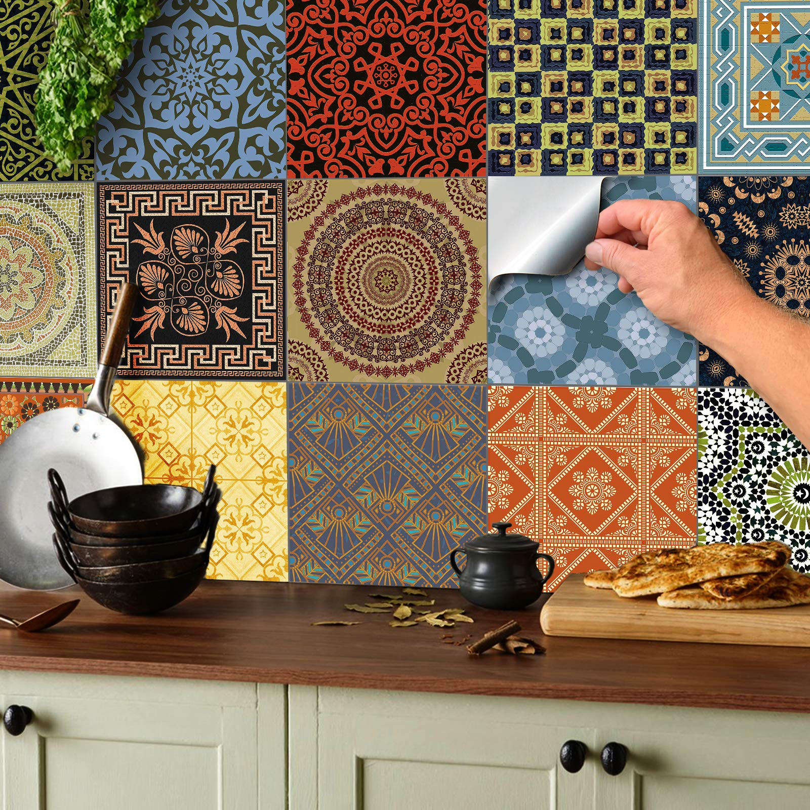 Transfers 150 x 150 mm Tile Stickers For Kitchen Bathroom* 15 x 15 cm