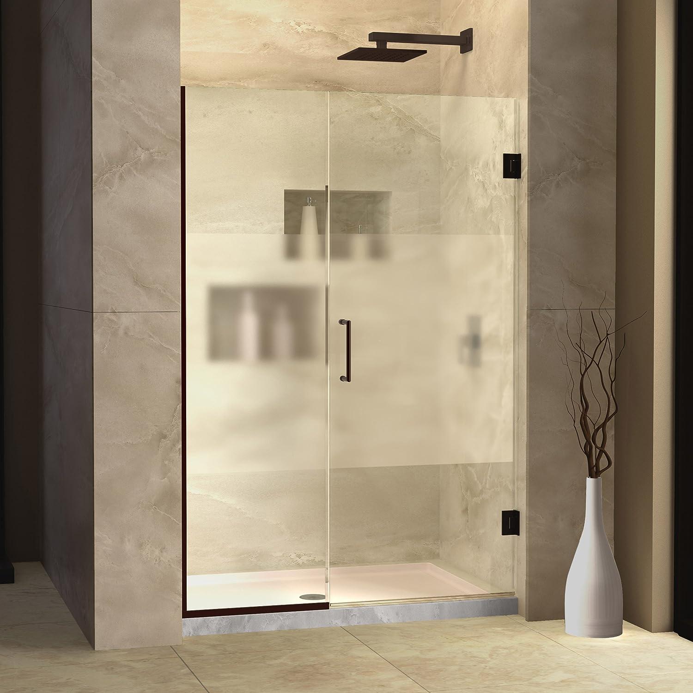 DreamLine Unidoor Plus 40-40 1/2 in. Width Frameless Hinged Shower Door 3/8  Glass Oil Rubbed Bronze Finish - - Amazon.com & DreamLine Unidoor Plus 40-40 1/2 in. Width Frameless Hinged ... pezcame.com