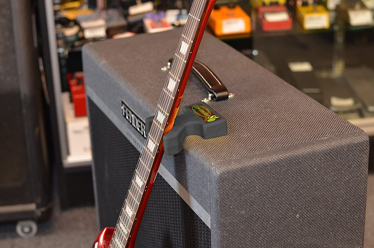 String-Out Version with Black Finish New Axe-Handler Instant Guitar Stand Cleaning Multi-Use as a Neck Support for String Changes and Repairs