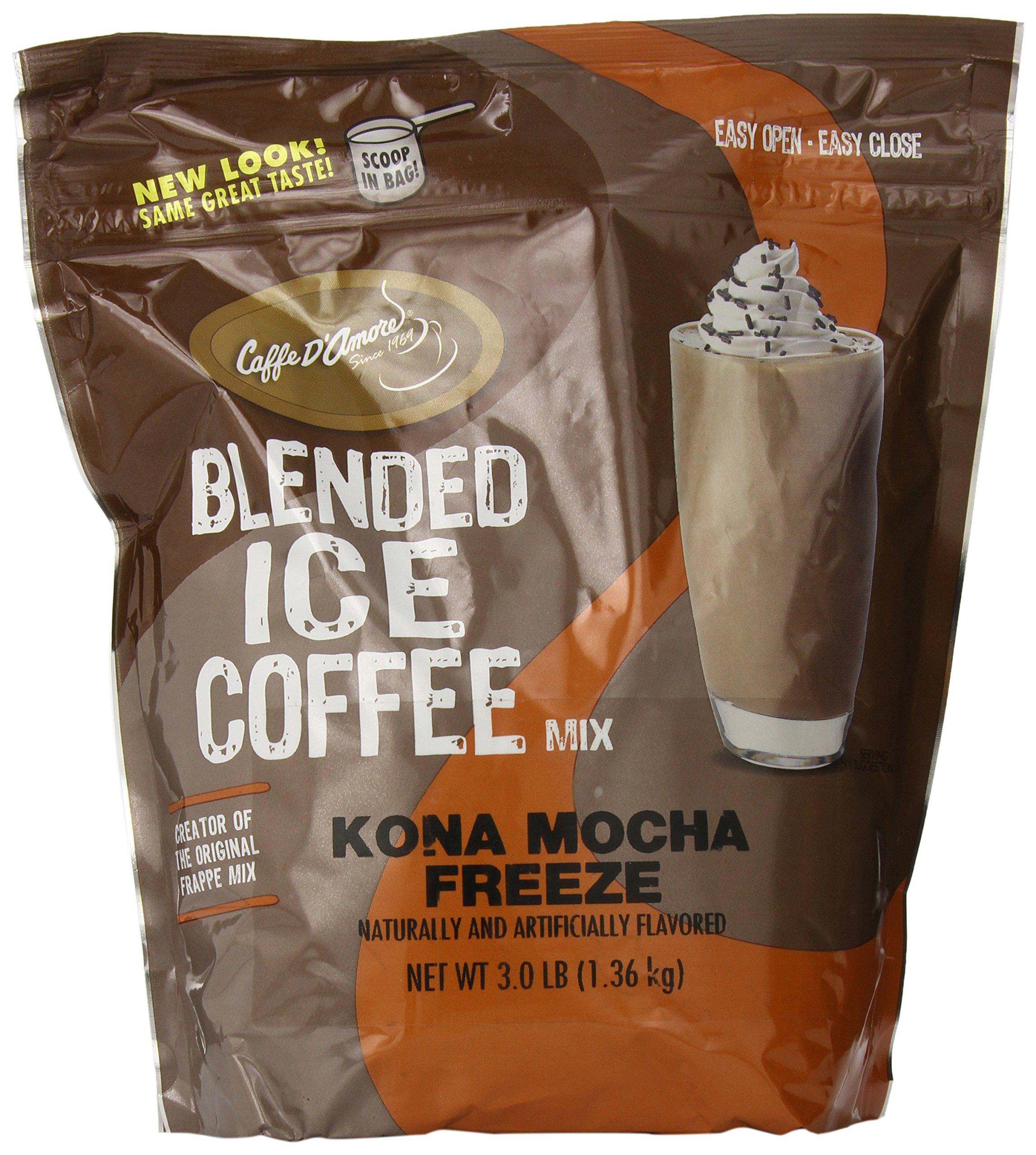 Frappe Freeze Iced Coffee Kona Mocha Blended Drink Mix, 3 Pounds