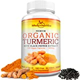 Premium Grade 100% Organic Turmeric Curcumin with Black Pepper Extract (Piperine) for Optimal Absorption - 600mg - Joint Support, Brain Booster, Anti-inflammatory, Antioxidant -100% GMO & Gluten Free -120 Veg Capsules - Made in UK