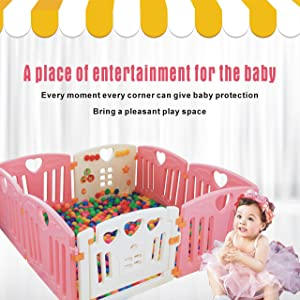 Baby Playpen Kids Activity Centre Safety Play Yard Home Indoor Outdoor New Pen (red) …