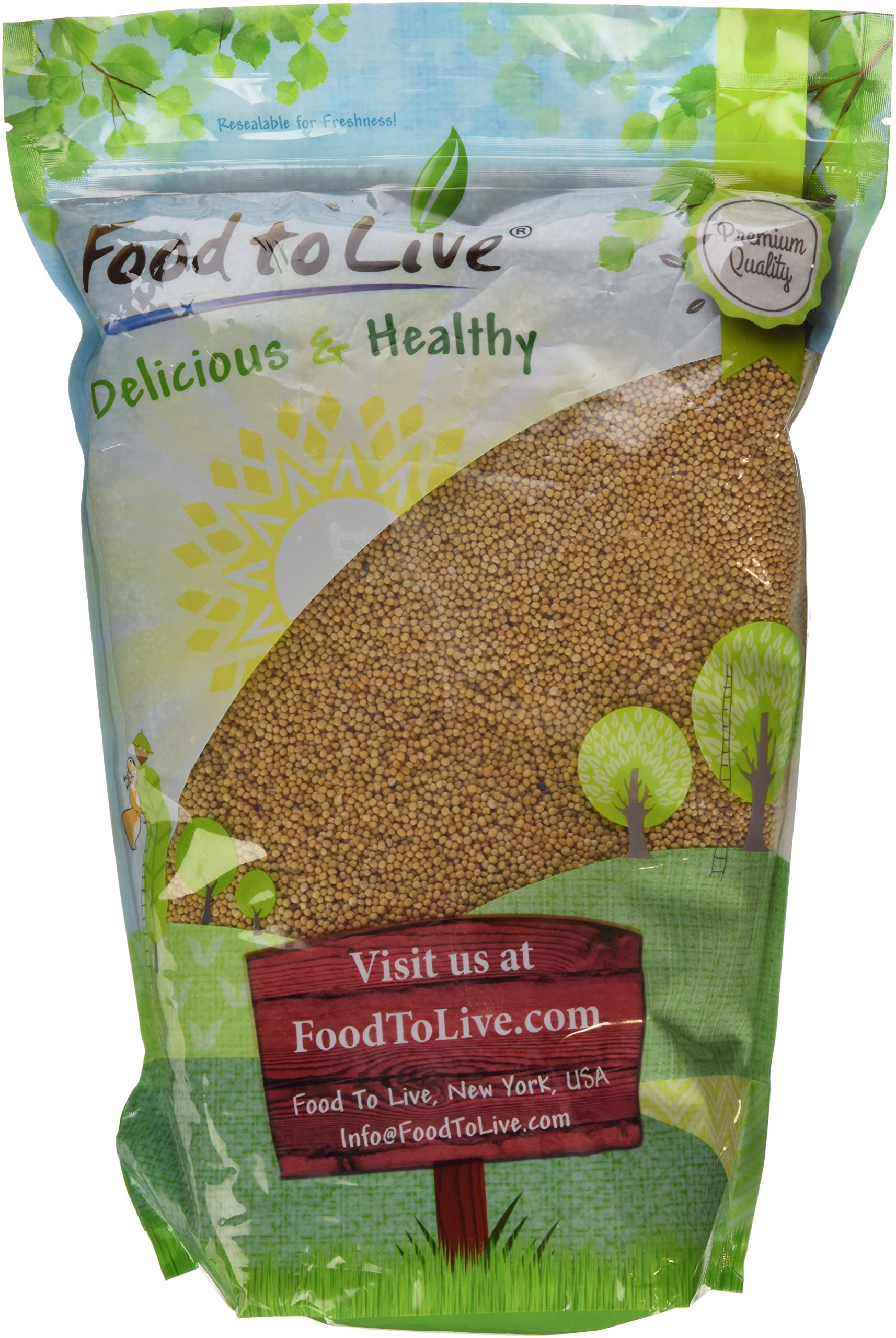 Food to Live Yellow Mustard Seeds (Kosher) (5 Pounds)