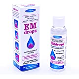 Electrolyte Mineral Water Drops - EMDROPS - upto 1,200 Servings! For Hydration, Leg Cramps, Bone & Heart Health. Calcium Magnesium Potassium ESSENTIAL MINERALS (No Trace Minerals) 2 fl.oz Concentrate