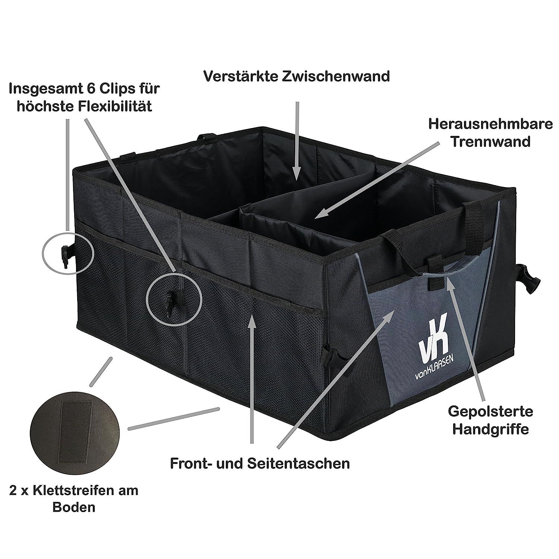Premium /étui Organiseur de coffre pliable pour coffre de voiture Bo/îte pliable avec attaches Velcro/ /53/x 38/x 25/cm
