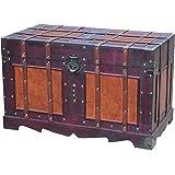 Vintiquewise Antique Style Steamer Trunk