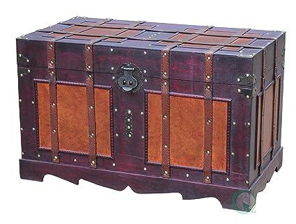 amazon com vintiquewise tm antique style steamer trunk kitchen