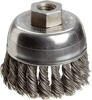 Shank Attachment 10013 0.006 in Bristle Diameter 1//2 in Diameter Cup Material: Standard WEILER Stainless Steel Cup Brush