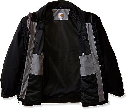Carhartt chaqueta impermeable para hombre, hombre, color negro ...