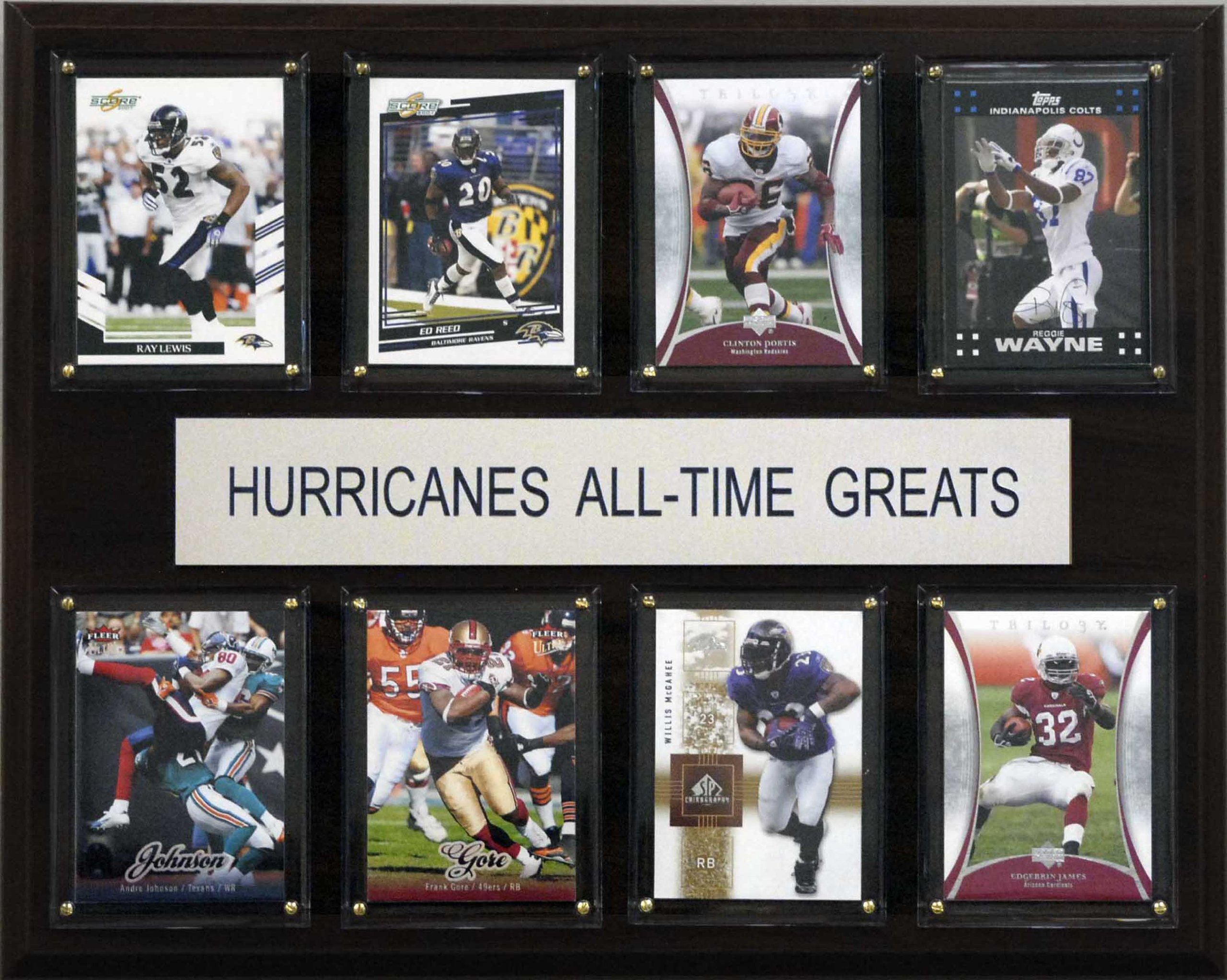 NCAA Football Miami Hurricanes All-Time Greats Plaque