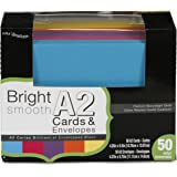 Darice Coordination's A2 Size Cards and Envelopes (Set of 50), Assorted Bright