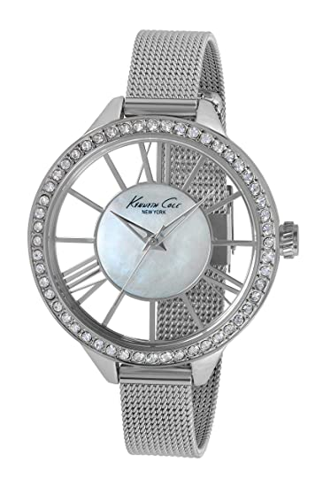 Kenneth Cole IKC0007 - Reloj de pulsera para mujer, nácar/plata: Kenneth Cole: Amazon.es: Relojes