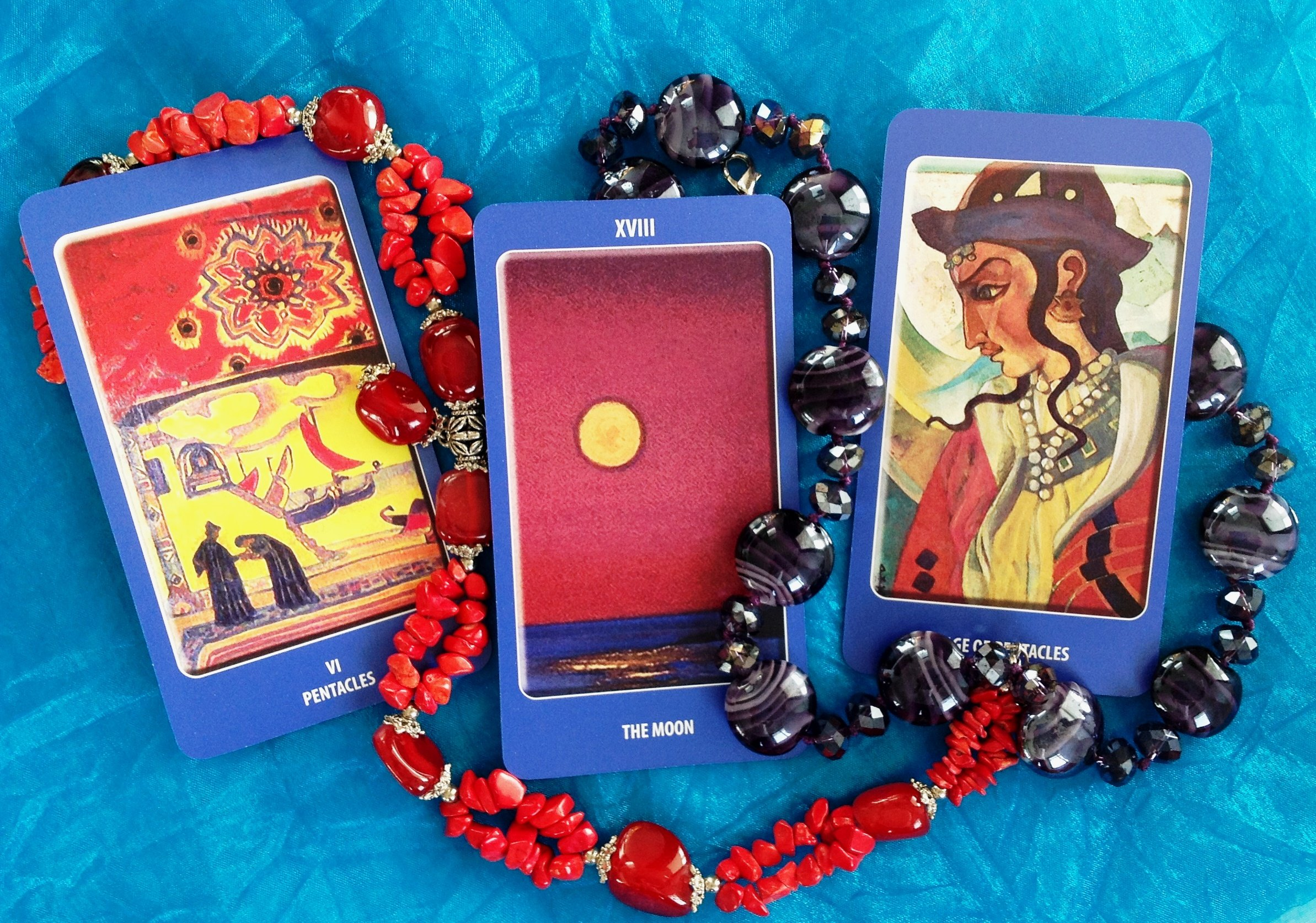 A Deeply Spiritual Tarot Deck. Agni ROERICH Tarot, English Edition. Set of 78 Cards Based on Paintings by Nicholas Roerich. A Unique Tarot Cards Deck, a Pathway to Tarot Symbolism and Meaning by Deluxe Cards (Image #3)