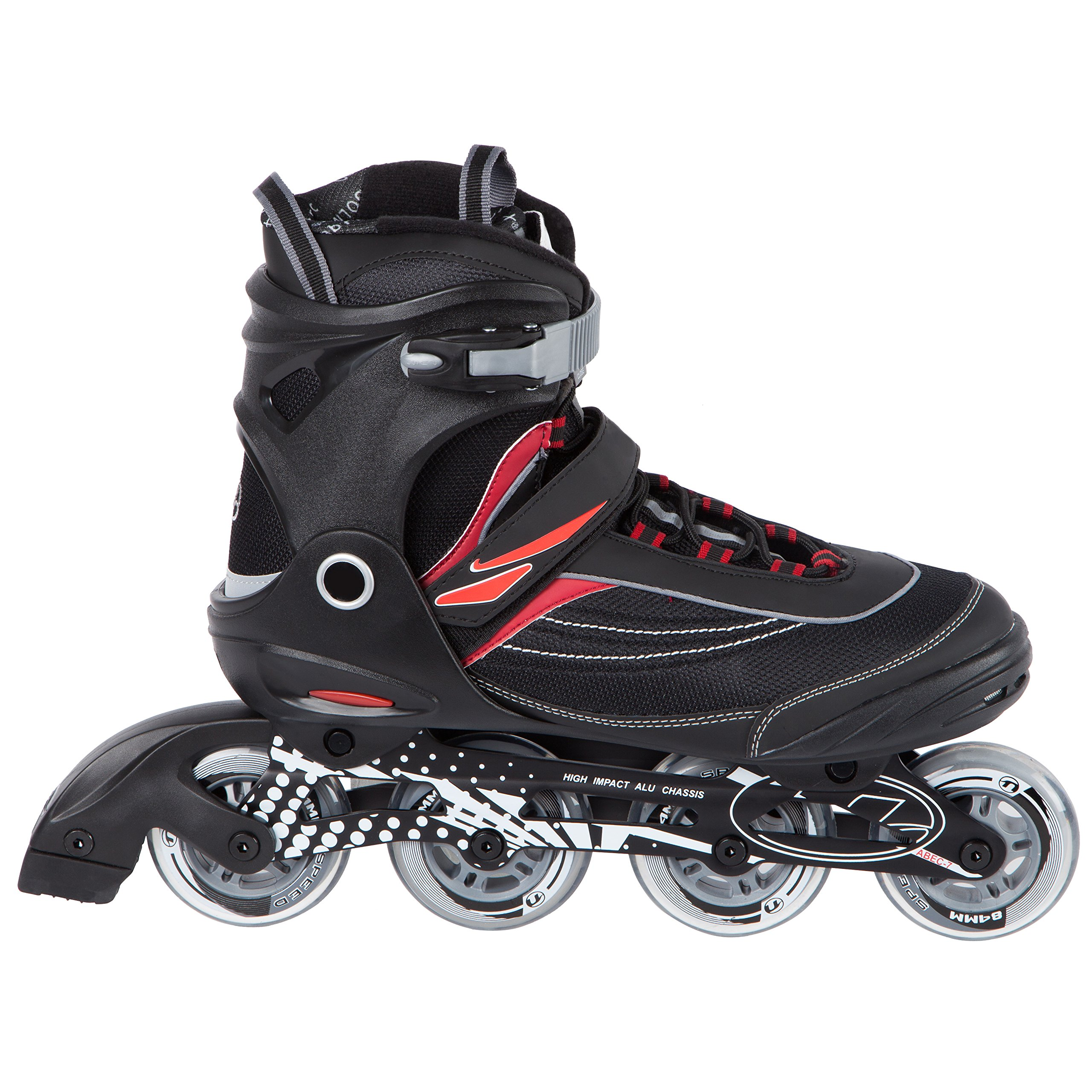 Ultega Men's U-Turn Size 11 Inline Skates, Black/Red