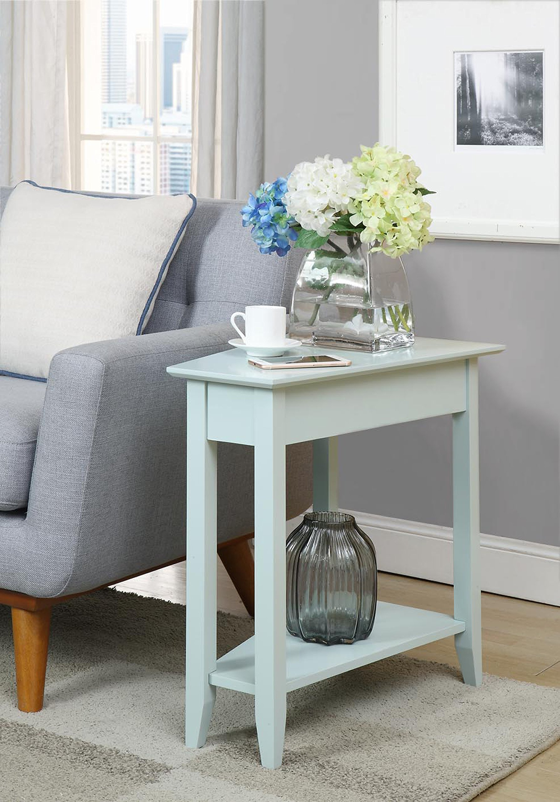 Convenience Concepts 7105060SF American Heritage Wedge End Table, Sea Foam