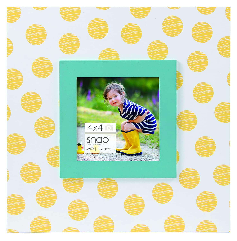 Amazon snap 4x4 yellow polka dot tabletop picture frame jeuxipadfo Choice Image