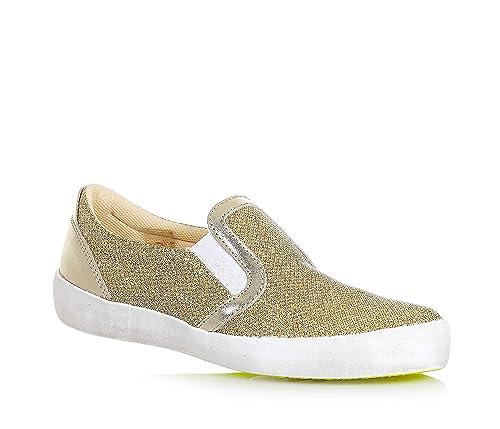 W6Yz - Mocasines para niña dorado Size: 32: Amazon.es: Zapatos y complementos