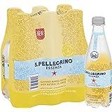 S.Pellegrino Essenza Lemon & Lemon Zest Flavored Mineral Water, Plastic Bottles (6 Count),16.9 Fl. Oz.