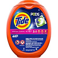 3-Tubs of 81 Tide Pods 3 in 1 HE Turbo Liquid Detergent Pacs, Coral Blast Scent