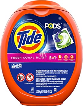 3-Tubs of 81 Tide Pods 3 in 1 HE Turbo Liquid Detergent Pacs