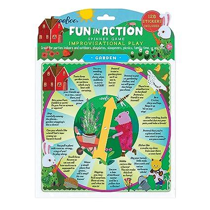 Amazon.com: eeBoo Garden Fun in Action Spinner Board Game ...