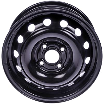 Dorman 939-162 Black Wheel with Painted Finish (14 x 5.5 inches /4 x 100 mm, 43 mm Offset): Automotive