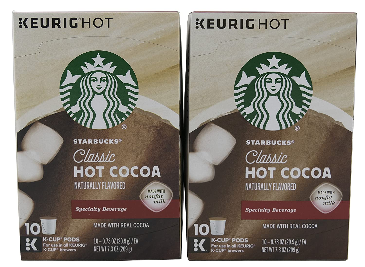 Starbucks Classic Hot Cocoa Naturally Flavored 10 k-cups (Box of 2)