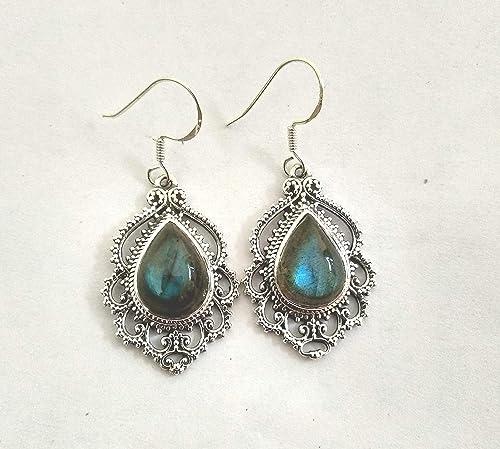 blue flash labradorite earring,dangle earring,Dainty earring,925 silver gold plated earring,Bezel earring,Minimalist Jewellry,fashion jewels