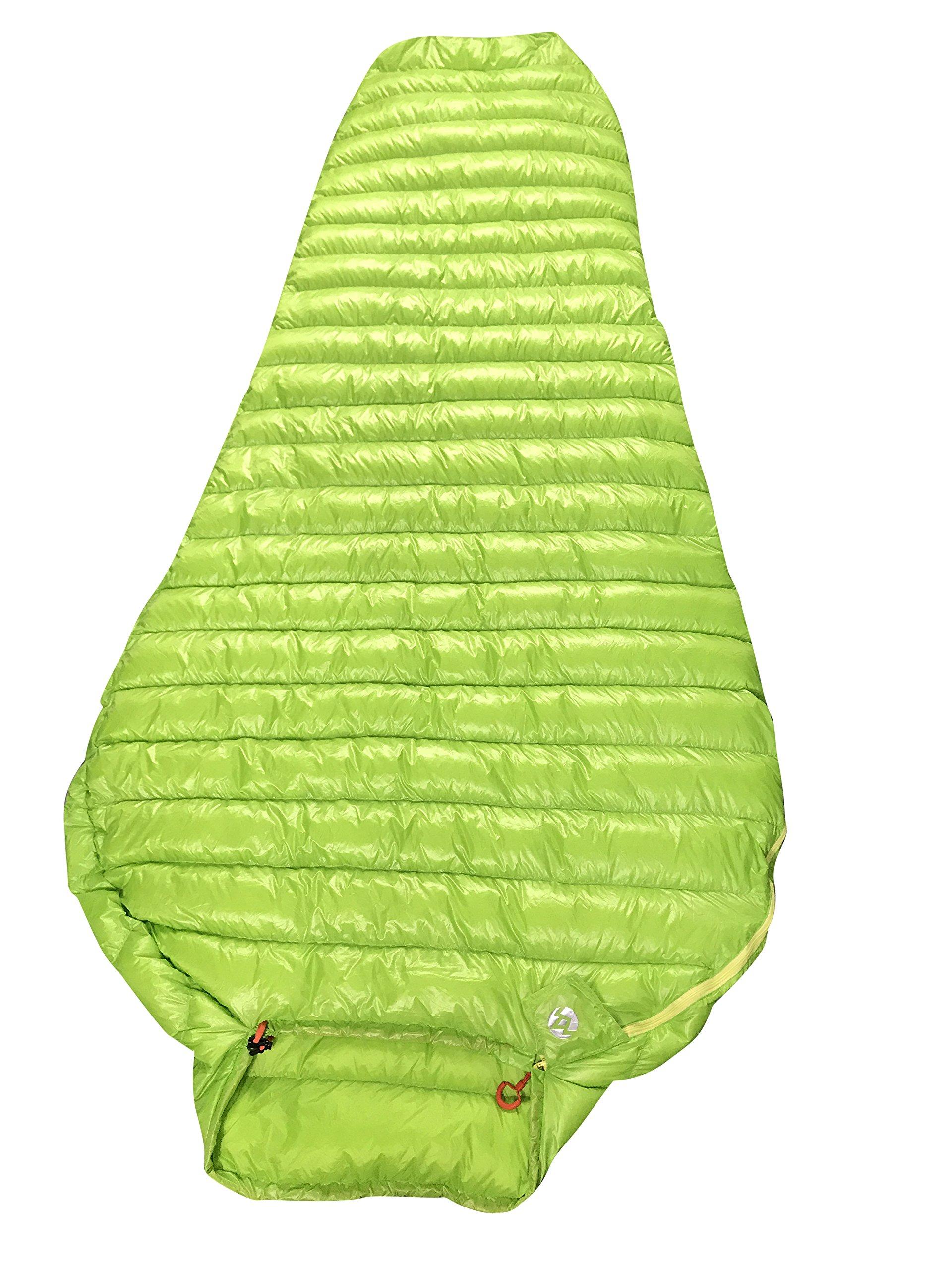AEGISMAX Outdoor Urltra-Light Goose Down Sleeping Bag Three-Season Down Sleeping Bag Mummy Down Sleeping Bag Green 3