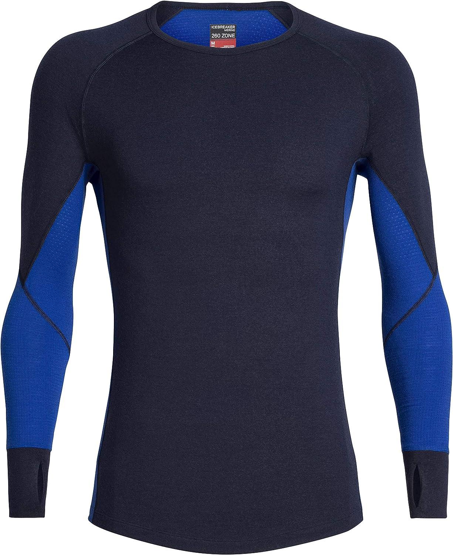 Icebreaker 260 Zone LS Crew Top Men jet heather//black 2020 Underwear
