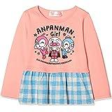 [ナカタ] アンパンマン裾チェック長袖Tシャツ 長袖Tシャツシリーズ ガールズ